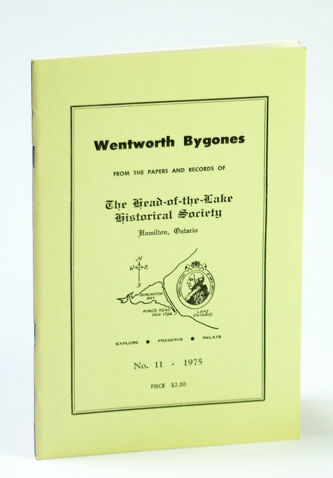Image for Wentworth Bygones: From the Papers and Records of The Head-of-the-Lake Historical Society, No. 11 (Eleven) 1975