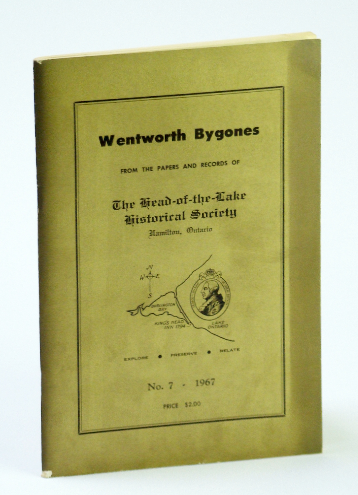 Image for Wentworth Bygones: From the Papers and Records of The Head-of-the-Lake Historical Society, No. 7 (Seven) 1967