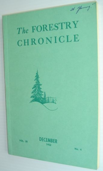 Image for The Forestry Chronicle - December 1952