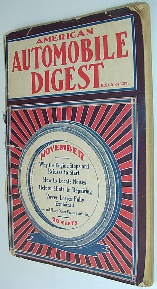 Image for American Automobile Digest - Vol. 10, November 1922, No. 11