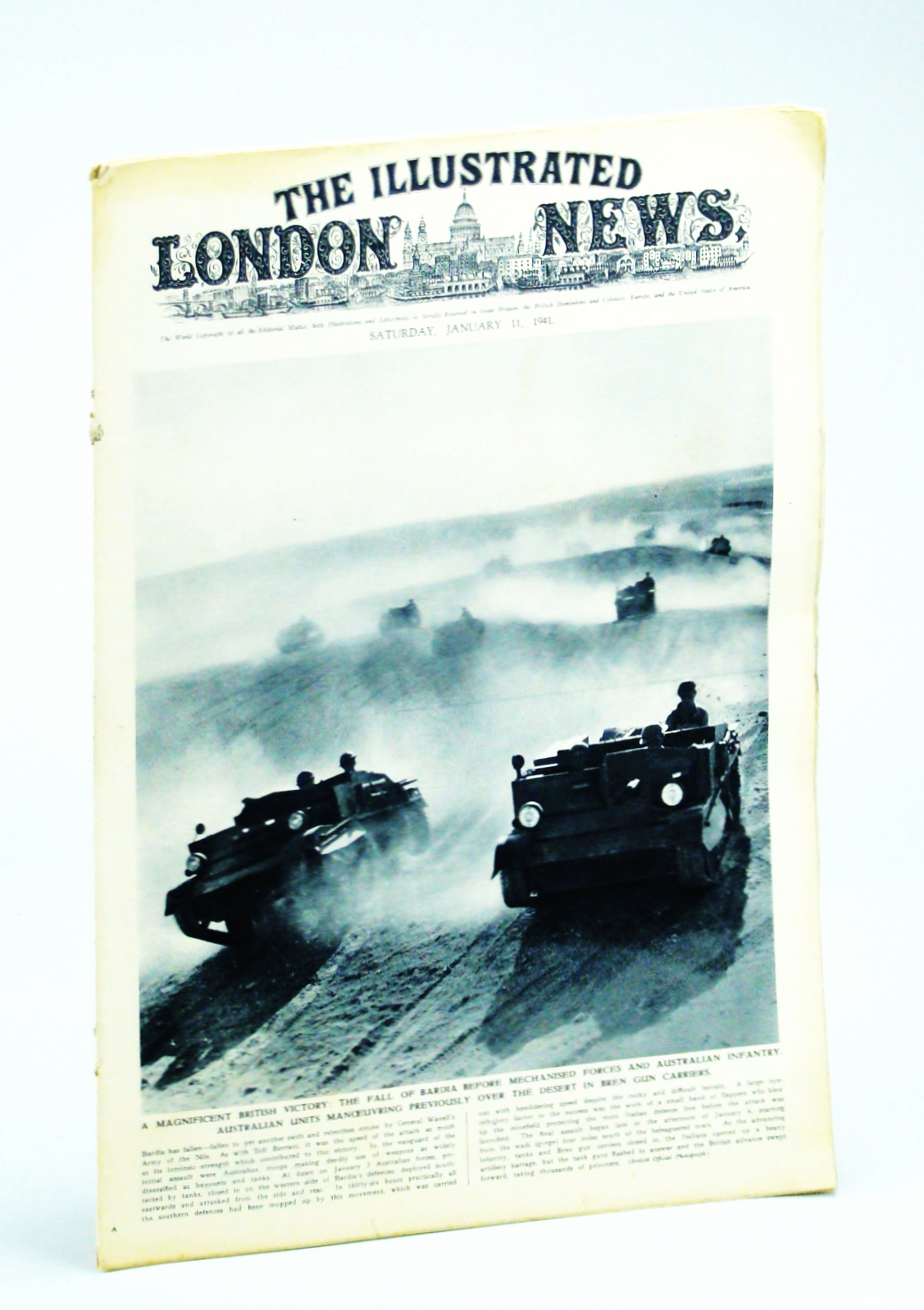 Image for The Illustrated London News, Saturday, January [Jan.] 11,1941 - Greek Triumph Over Italy at Koritza and Argyrokastro