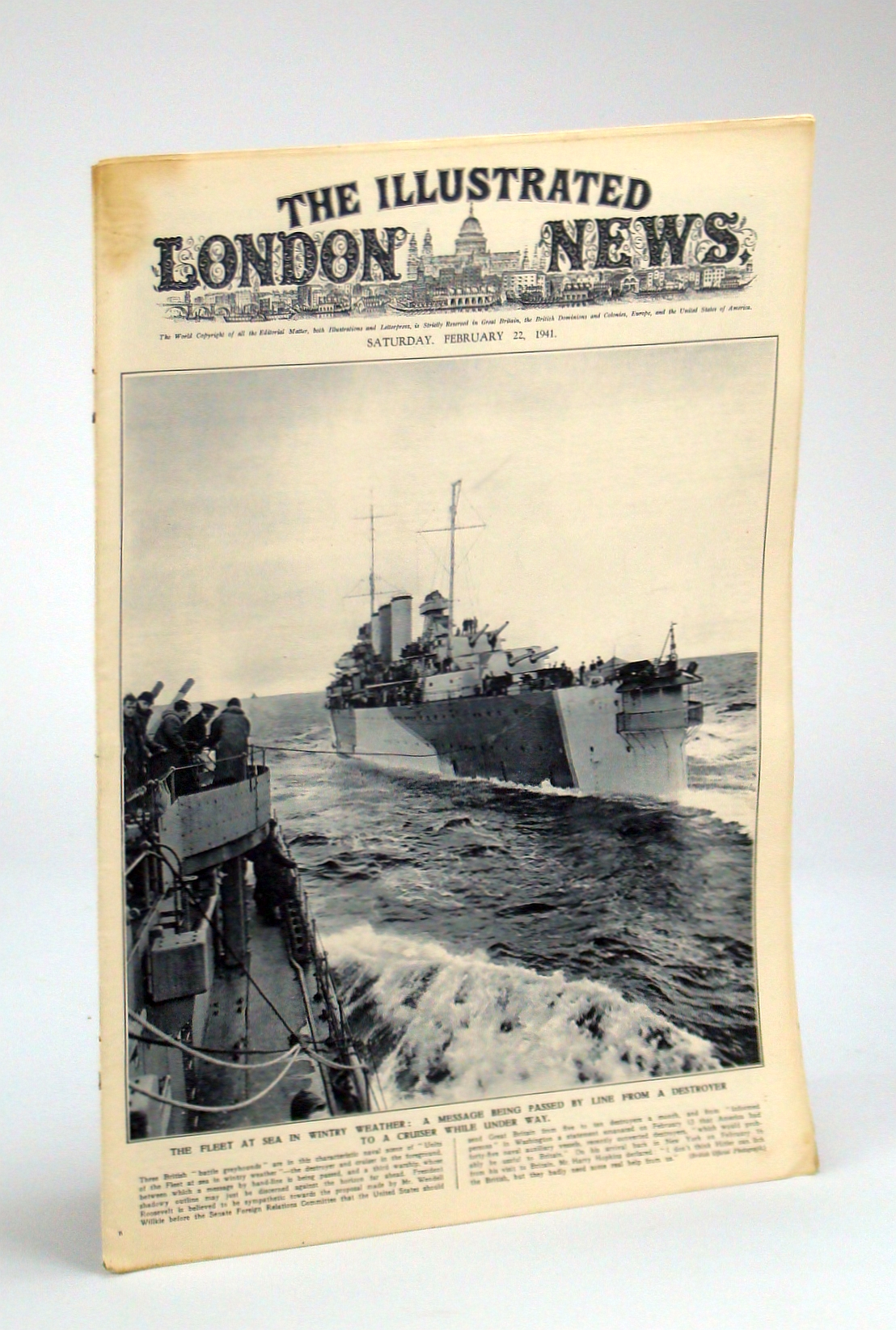 Image for The Illustrated London News, Saturday, February [Feb.] 22, 1941 - America's Steel Industral Sinews Support Britain