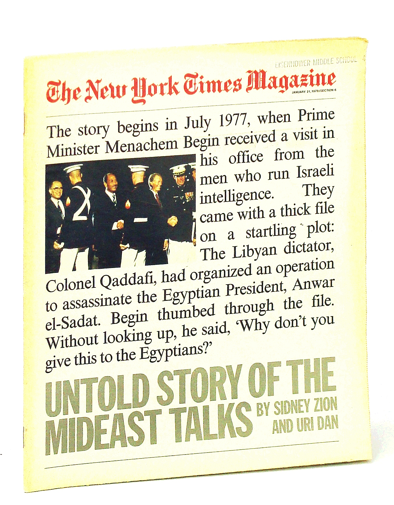 Image for The New York Times Magazine, January [Jan.] 21, 1979: Untold Story of the Mideast Peace Talks