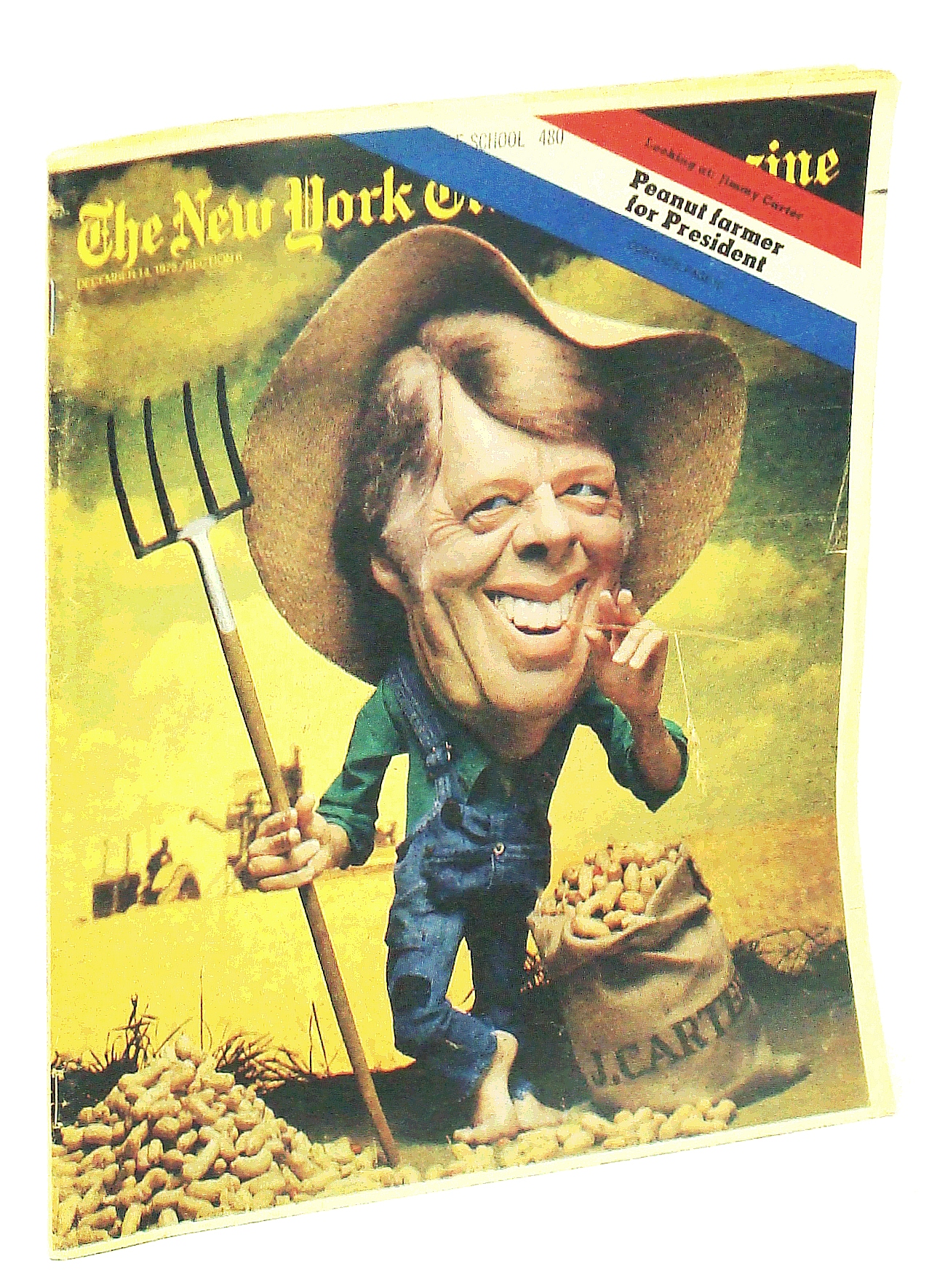 Image for The New York Times Magazine, December [Dec.] 14, 1975: Peanut Farmer for President - Jimmy Carter / O.J. Simpson of the Buffalo Bills