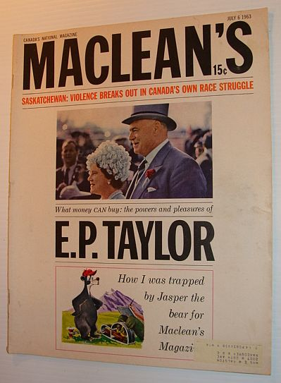 Image for Maclean's Magazine, July 6, 1963 - E.P. Taylor Feature and Cover Photo
