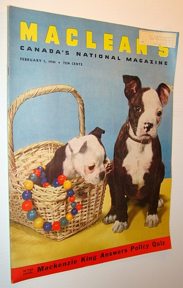Image for Maclean's - Canada's National Magazine, February 1, 1945