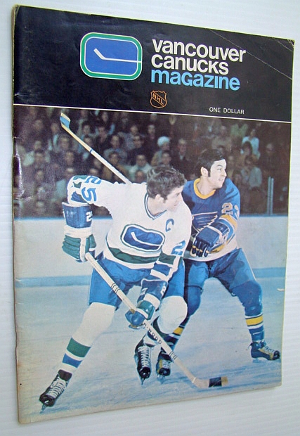 Image for Vancouver Canucks Hockey Magazine, February 18, 1972, Vol 2 No. 8 - Cover Photo of Orland Kurtenbach Battling Bill Plager