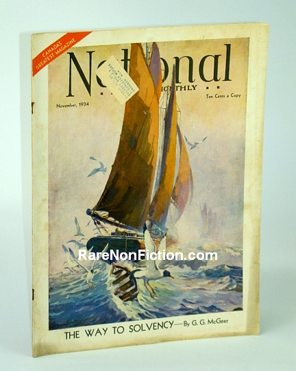 Image for The National Home Monthly Magazine, November 1934 - Heroic Canadian Monetary Reformer Gerald Grattan McGeer