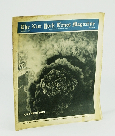 Image for The New York Times Magazine, August 12, 1945 - Aerial Cover Photo of Massive Explosion on Honshu