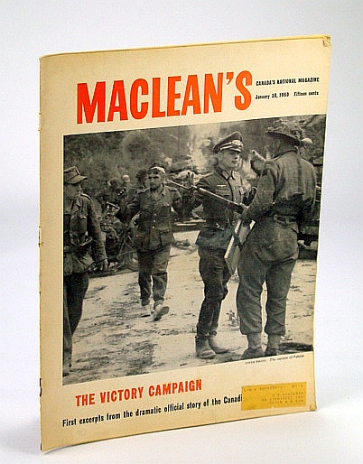 Image for Maclean's, Canada's National Magazine, 30 January (Jan.) 1960: Breakout at Falaise  / Gratien Gelinas