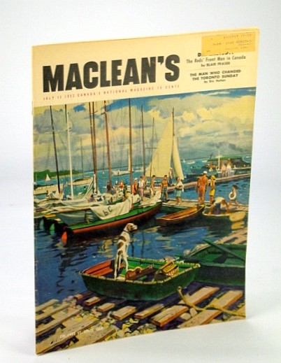 Image for Maclean's - Canada's National Magazine, 15 July 1952 - James Gareth Endicott / Allan Lamport / Frank Peddie
