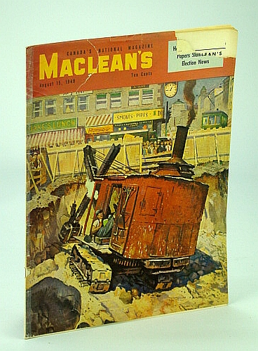 Image for Maclean's - Canada's National Magazine, 15 August (Aug.), 1949 - The Story of the Hudson's Bay Company / Hong Kong Gold Smuggling