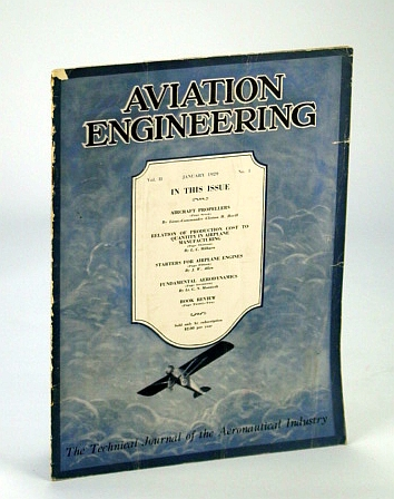 Image for Aviation Engineering (Magazine) - The Technical Journal of the Aeronautical Industry, January (Jan.) 1929 - Aircraft Propellers