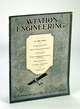 Image for Aviation Engineering (Magazine) - The Technical Journal of the Aeronautical Industry, February (Feb.) 1929 - Aircraft Design Trends