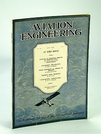 Image for Aviation Engineering (Magazine) - The Technical Journal of the Aeronautical Industry, June 1929 - Radio Teleophony As Applied to Aircraft