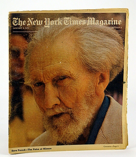 Image for The New York Times Magazine, January (Jan..) 9, 1972 -  Ezra Pound Cover Photo