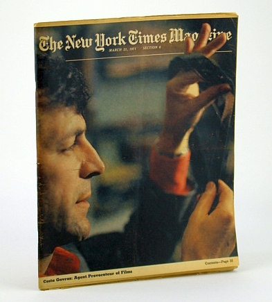 Image for The New York Times Magazine, March (Mar.) 21, 1971 -  Costa Gavras Cover Photo / Palm Beach Social Scene