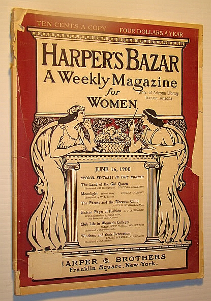 Image for Harper's Bazar (Bazaar) - A Weekly Magazine for Women, June 16, 1900 - Land of the Girl Queen (Holland/The Netherlands)
