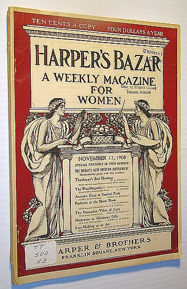 Image for Harper's Bazar (Bazaar) - A Weekly Magazine for Women, November 17, 1900 - The Decorative Possibilities of (Plaster) Casts