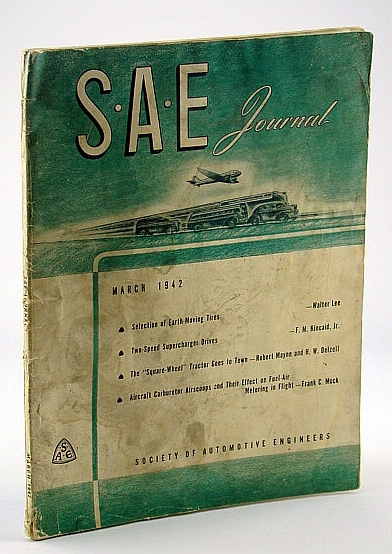 Image for S.A.E. Journal (Society of Automotive Engineers), March 1942