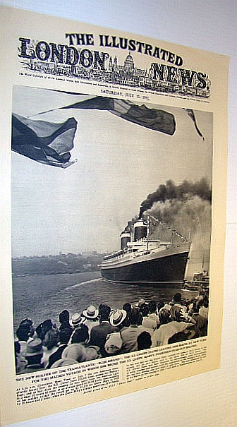 Image for The Illustrated London News (ILN), July 12, 1952 -  Maiden Voyage of The S.S. United States