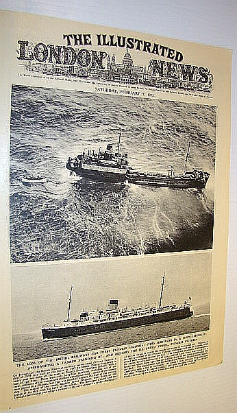 Image for The Illustrated London News (ILN) February 7, 1953 -  Loss of the Car Ferry 'Princess Victoria' / Flooding in England and the Netherlands