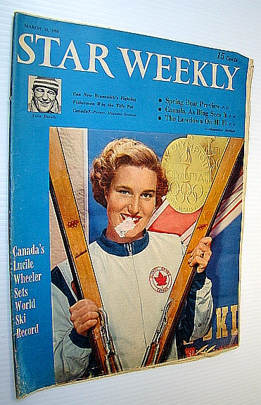 Image for (Toronto) Star Weekly, March 15, 1958 - Cover Photo of Skier Lucile Wheeler