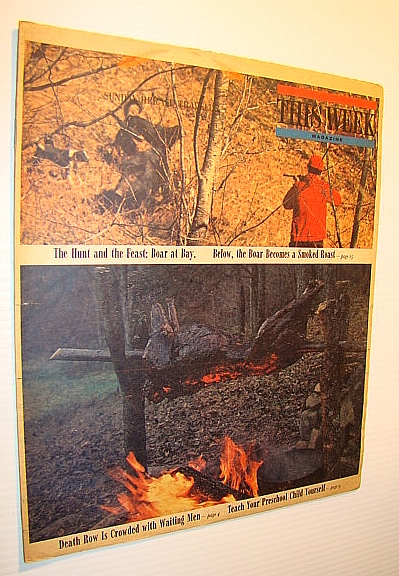 Image for This Week Magazine, September 28, 1969 - Insert to the Boston Sunday Herald: Cover Color Photos of Wild Boar Being Shot Then Roasted