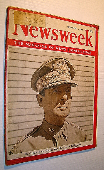 Image for Newsweek - The Magazine of News Significance, February 8, 1943: General Douglas MacArthur Cover Photo