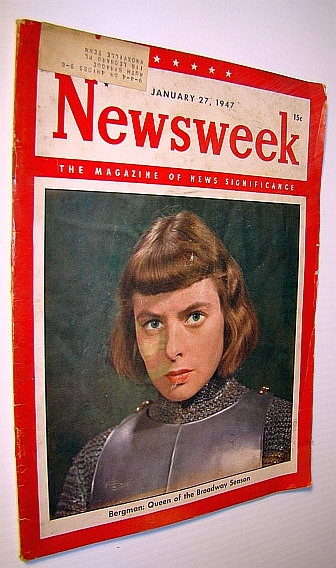Image for Newsweek - The Magazine of News Significance, January 27, 1947: Cover Photo of Ingrid Bergman;