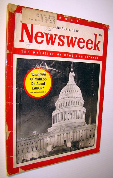 Image for Newsweek - The Magazine of News Significance, January 6, 1947 - Passing of W.C. Fields
