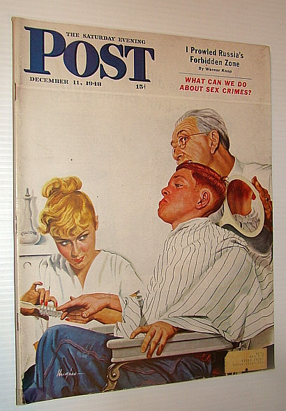 Image for The Saturday Evening Post, December 11, 1948 - I Prowled Russia's Forbidden Zone / What Can We Do About Sex Crimes? / Los Alamos / The Man Who Invented Scotch Tape