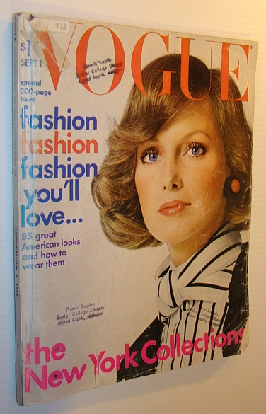 Image for Vogue Magazine (US), September 1, 1972 - The Big Annual September Issue - Over 300 Pages