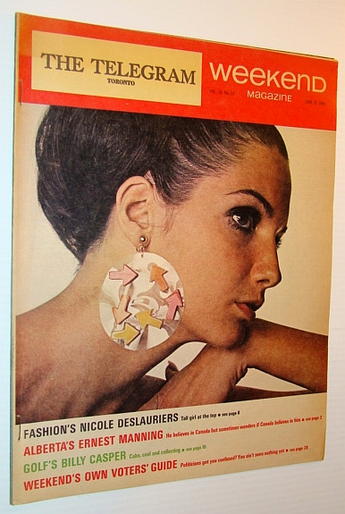 Image for Weekend Magazine, 15 June 1968 (Newspaper Insert) - Nicole Deslauriers Cover Photo