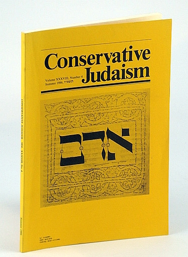 Image for Conservative Judaism, Volume XXXVIII, Number 4, Summer 1986