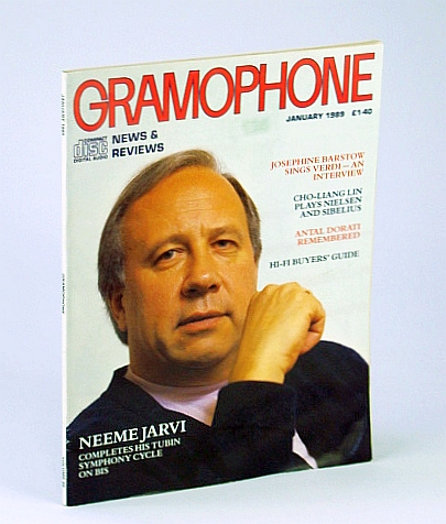 Image for Gramophone Magazine, January (Jan.) 1989 - Neeme Jarvi Cover Photo