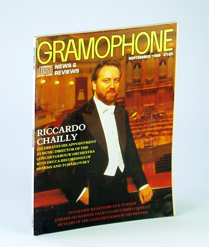 Image for Gramophone Magazine, September (Sept.) 1988 - Riccardo Chailly Cover Photo