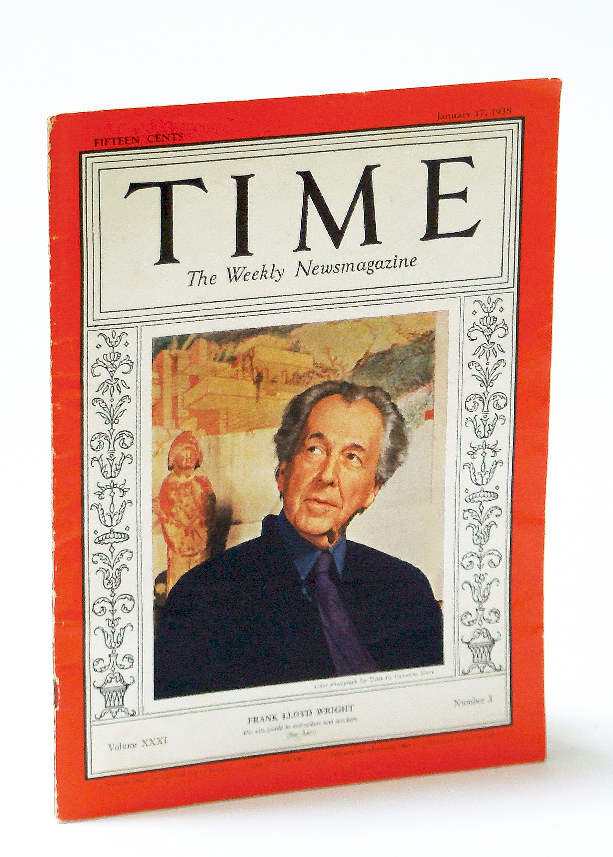 Image for Time, The Weekly Newsmagazine (U.S. Edition),  January (Jan.) 17, 1938, Volume XXXI, Number 3 - Frank Lloyd Wright Cover Photo