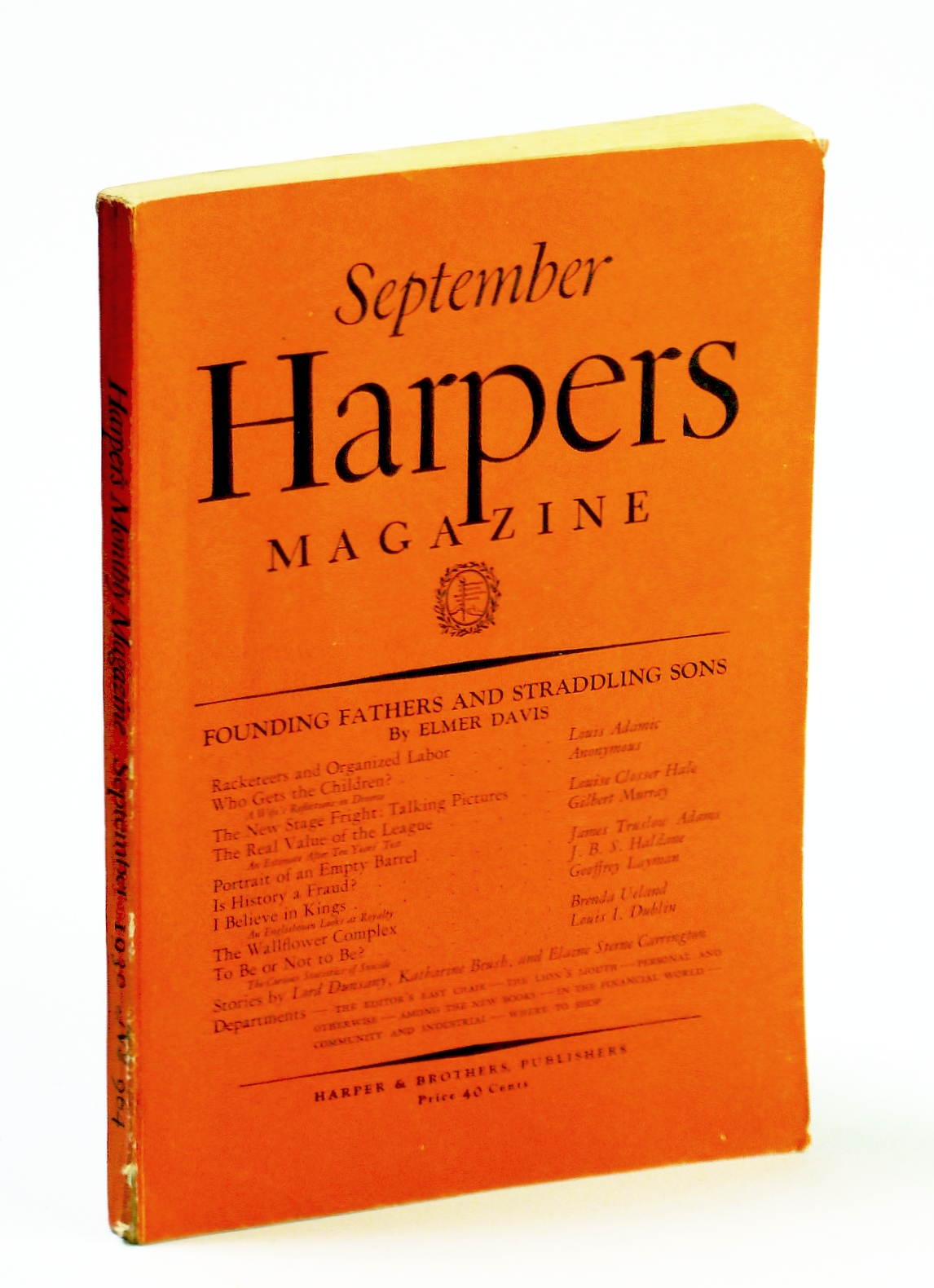Image for Harpers Magazine, September (Sept.) 1930, No. 964 - Racketeers and Organized Labor