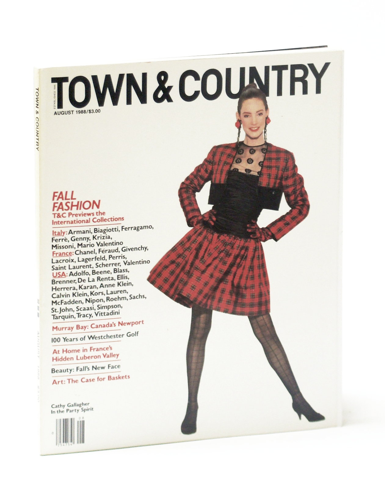 Image for Town & Country Magazine, Vol 142, No. 5099, August (Aug.) 1988 - Fall Fashion / Murray Bay - Canada's Newport