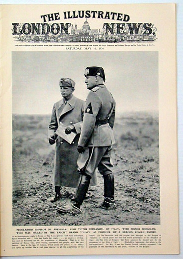 Image for The Illustrated London News, May 16, 1936: Mussolini (Il Duce) Cover Photo