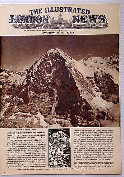 Image for The Illustrated London News, August (Aug.) 4, 1962 - Barry Brewster Dies Climbing the North Face of Eiger