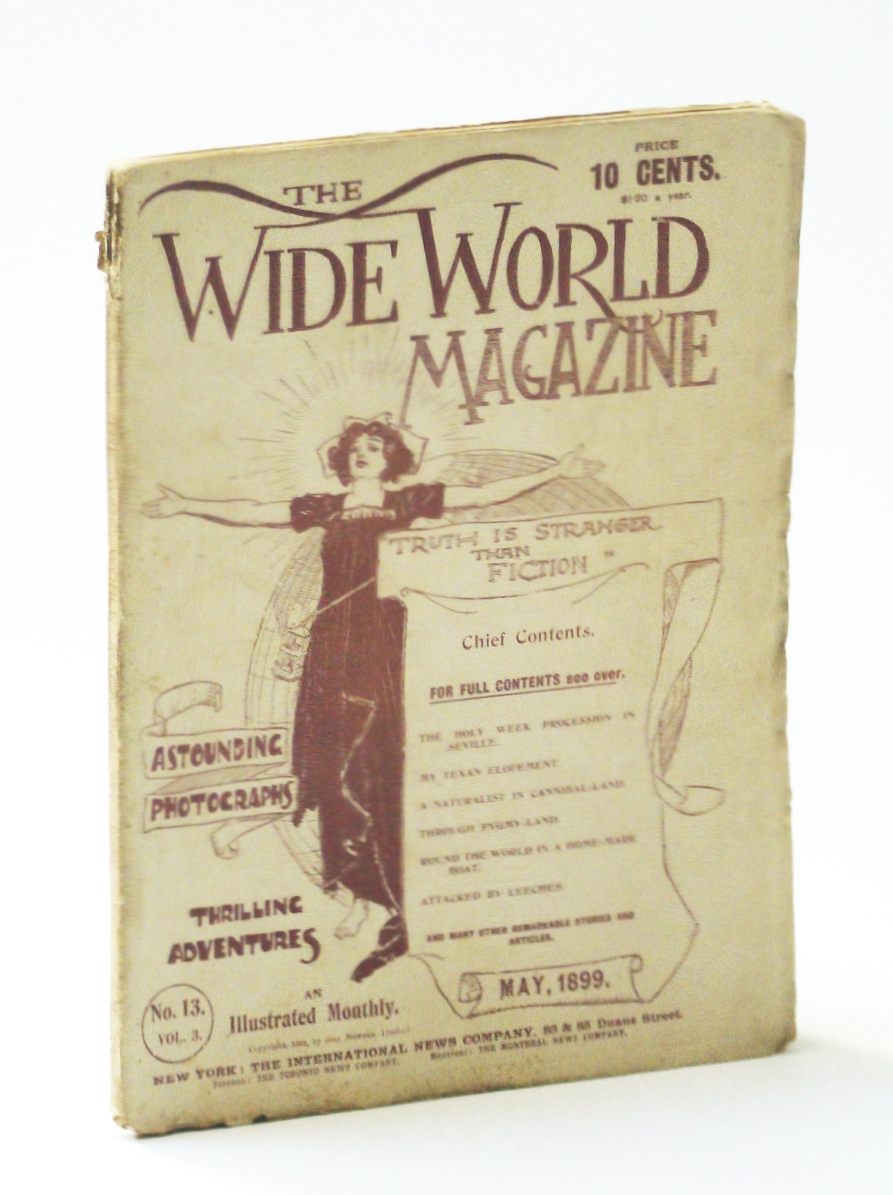 Image for The Wide World Magazine - An Illustrated Monthly, May 1899, Vol. 3, No. 13 - Klondike Mission / Heroes of Niagara / Martyrs of Ku-Cheng