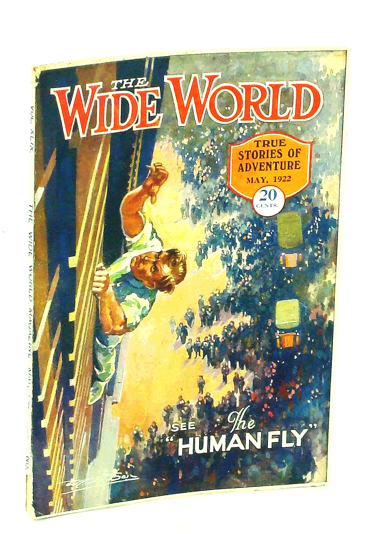 "Image for The Wide World, True Stories of Adventure, May 1922, Vol. 49, No. 289: Jack Williams is ""The Human Fly"" (Cover Illustration)"