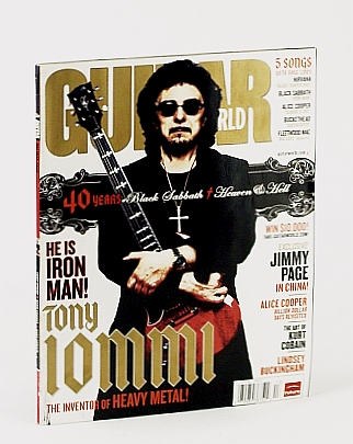Image for Guitar World Magazine, 2008 Holiday Issue: Tommy Iommi (of Black Sabbath) Cover Photo