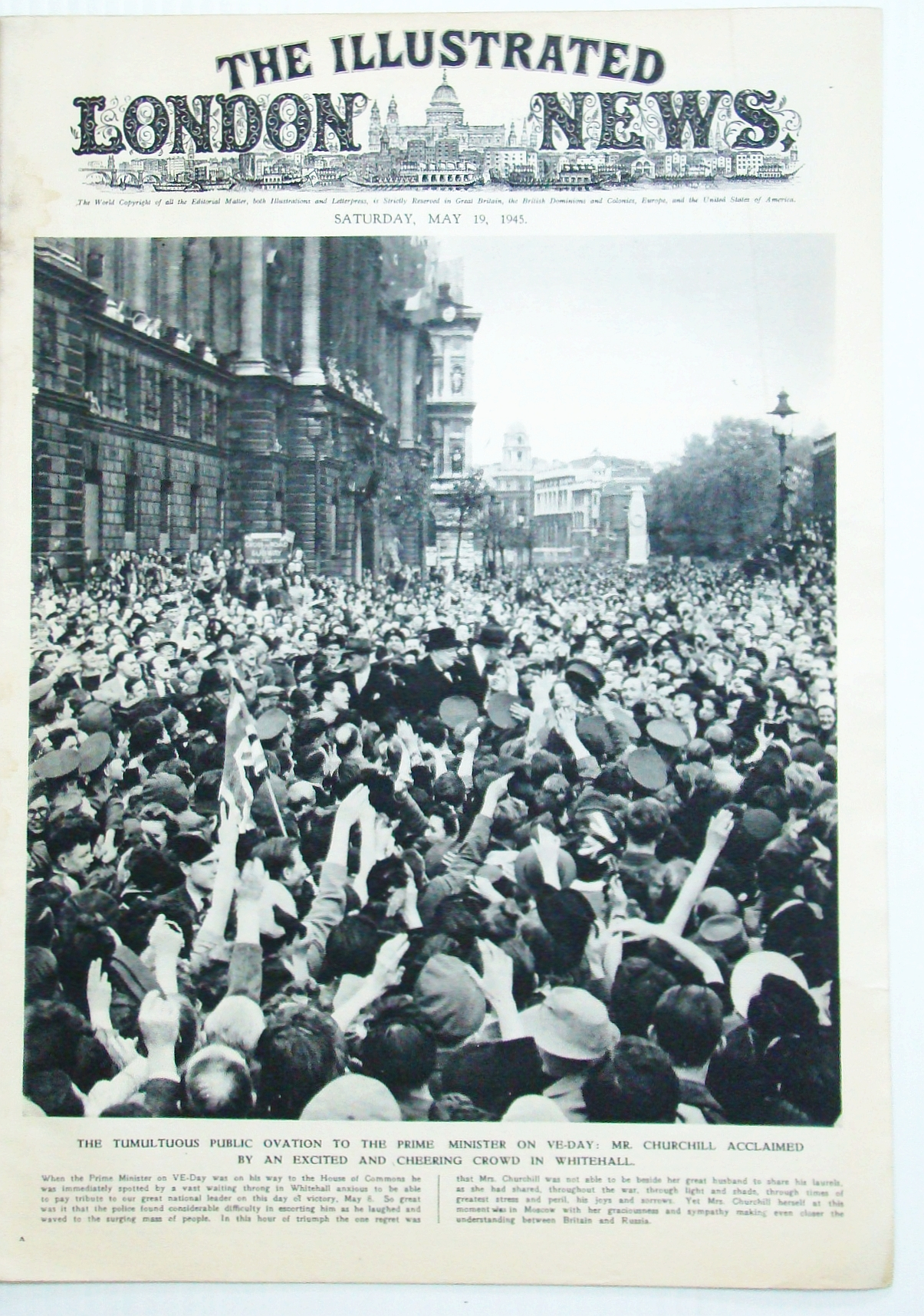Image for The Illustrated London News (ILN), May 19, 1945: VE-Day Celebrations!
