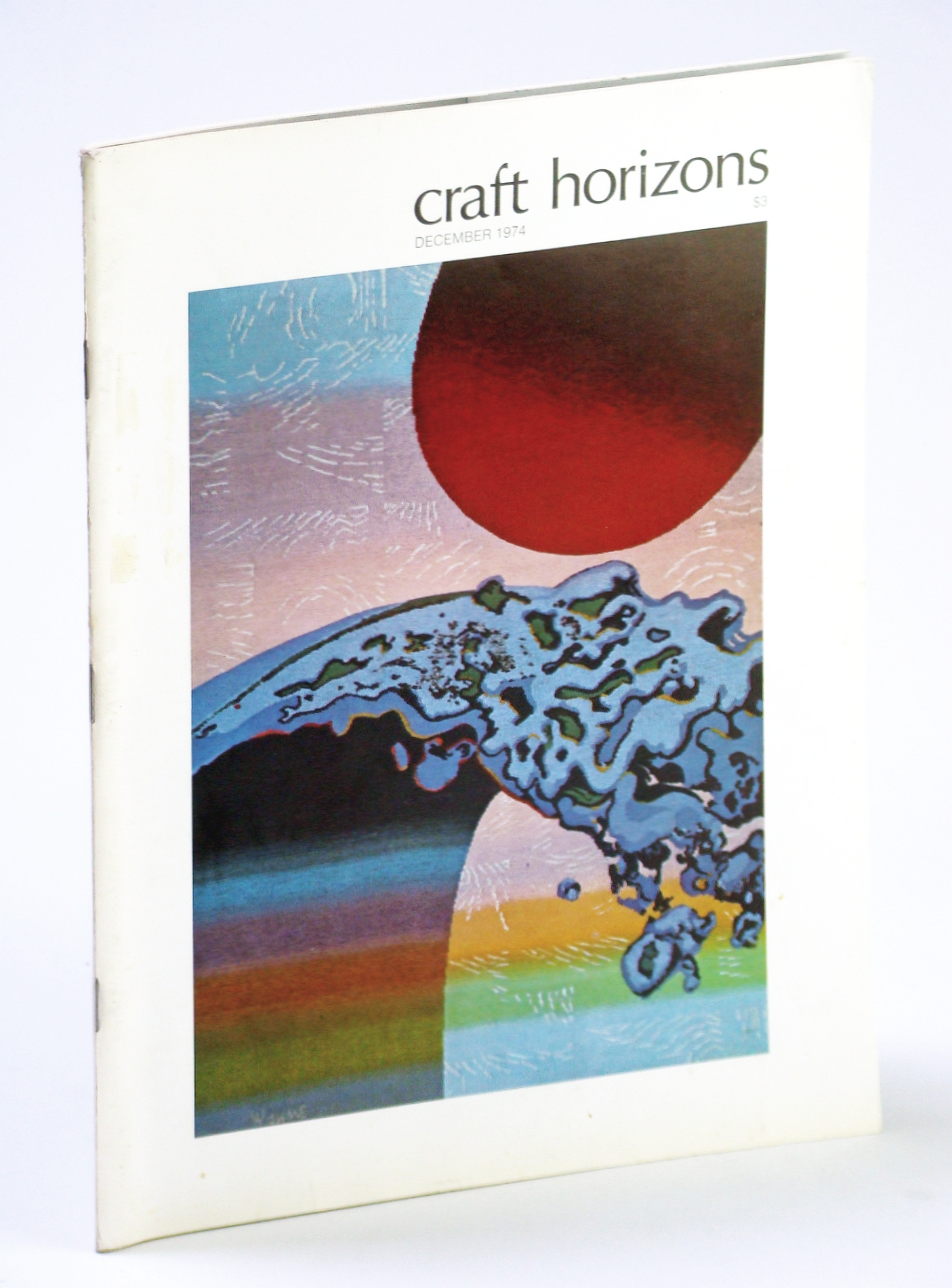 Image for Craft Horizons (Magazine) of the American Crafts Council, December (Dec.) 1974 - June Wayne / Jack Lenor Larsen / Stephen Robin