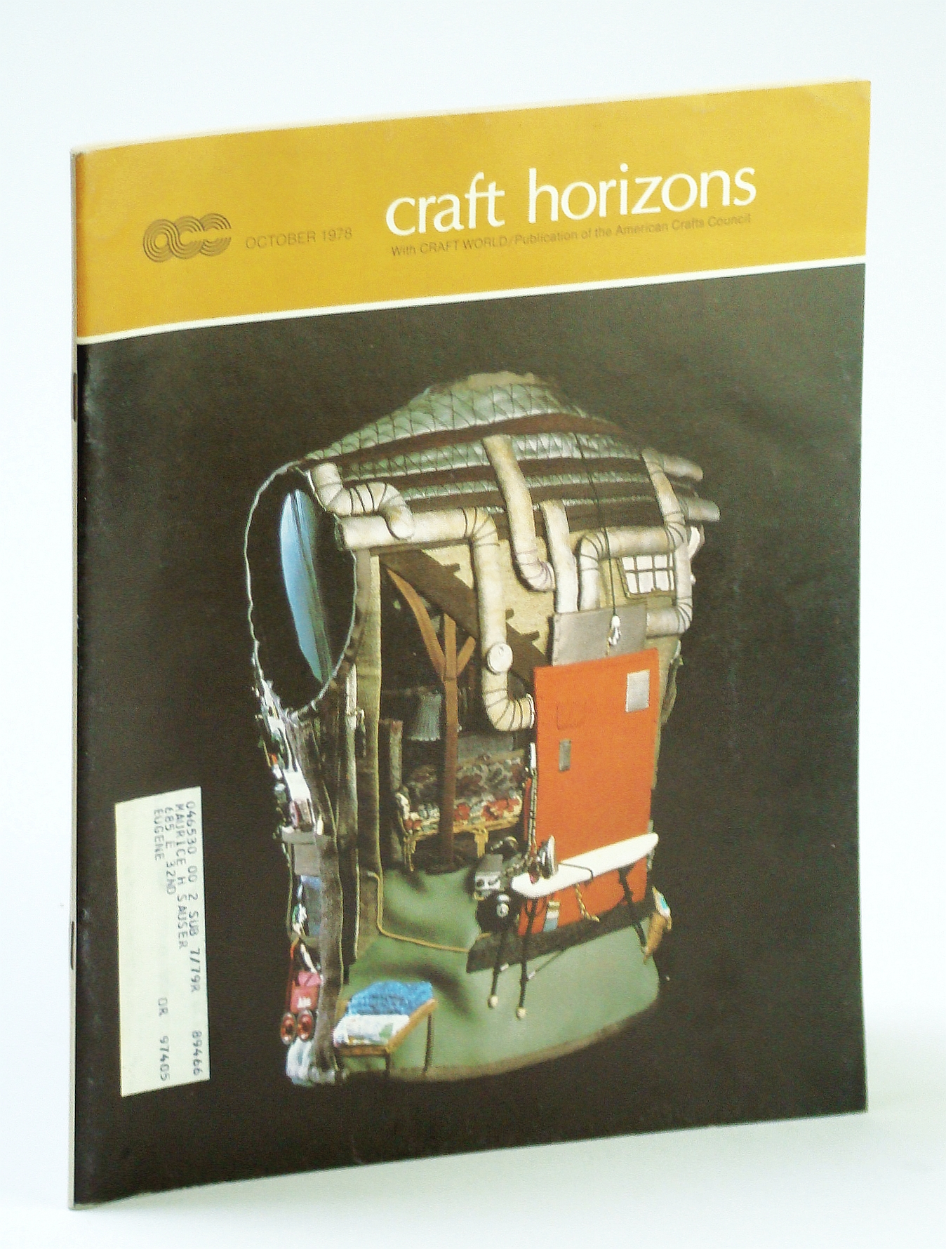 Image for Craft Horizons (Magazine) of the American Crafts Council, October (Oct.) 1974 - Mary McFadden / George Ohr