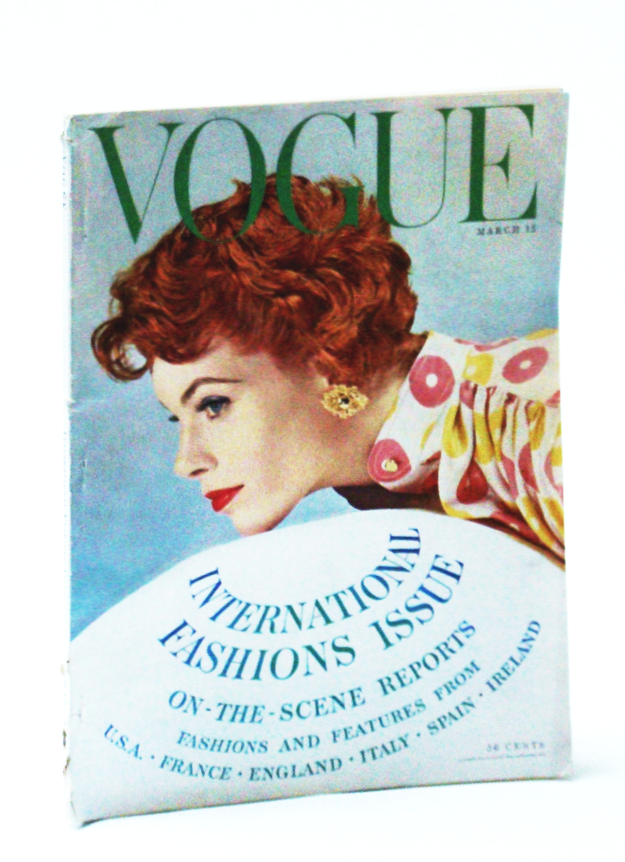 Image for Vogue (American) Magazine, March (Mar.) 15, 1954 - International Fashions Issue