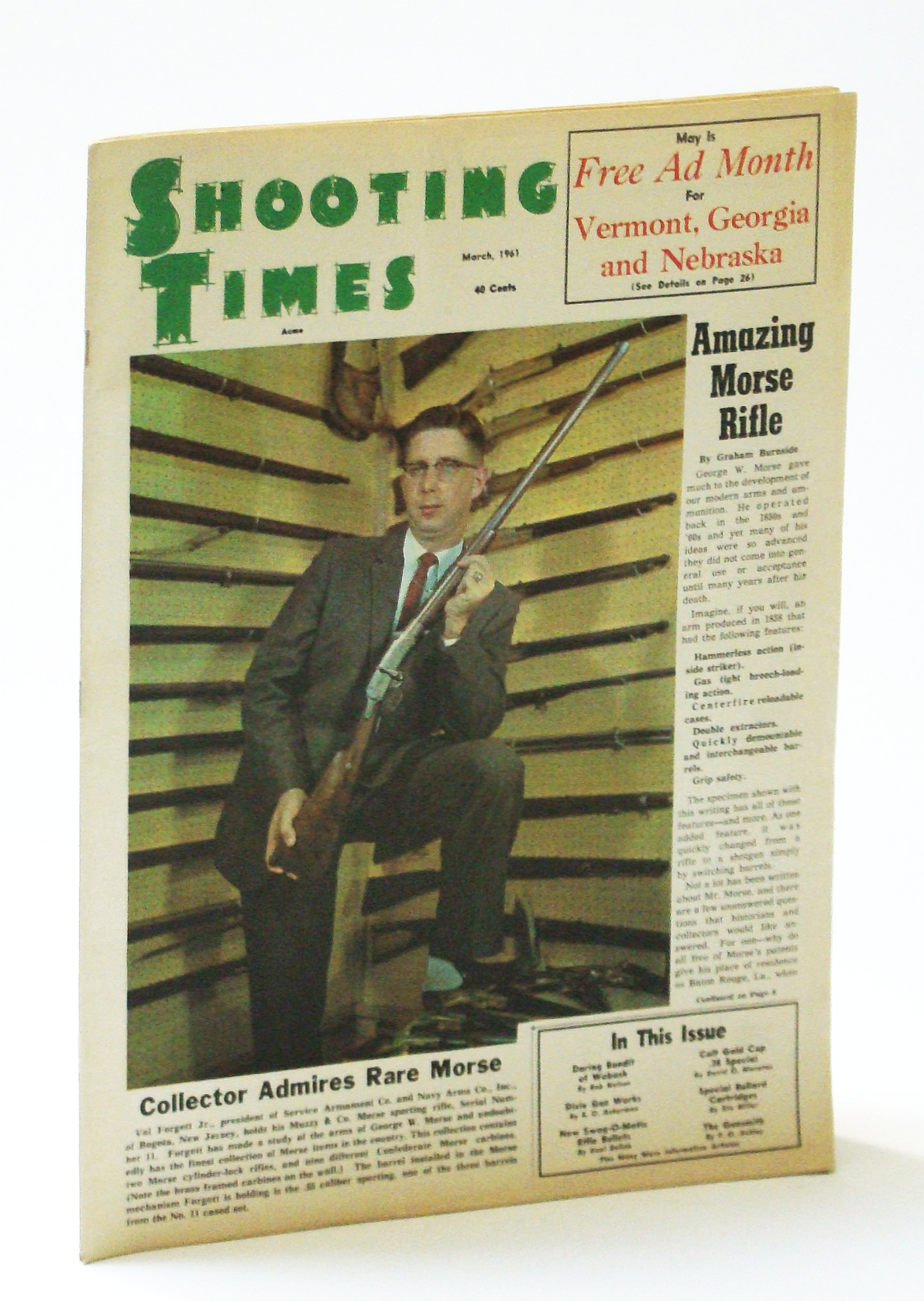 Image for Shooting Times Magazine, March (Mar.) 1961, Vol I, No. 12 - Val Forgett Jr. Cover Photo